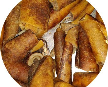 Kplo, peau de bœuf fumée en sachet